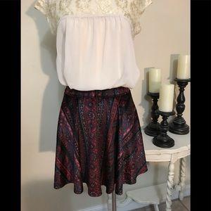 Hollister Velvet Multi Color Skirt Sz Medium